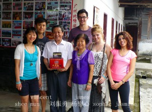 Liu Zhen Yong and students 2012